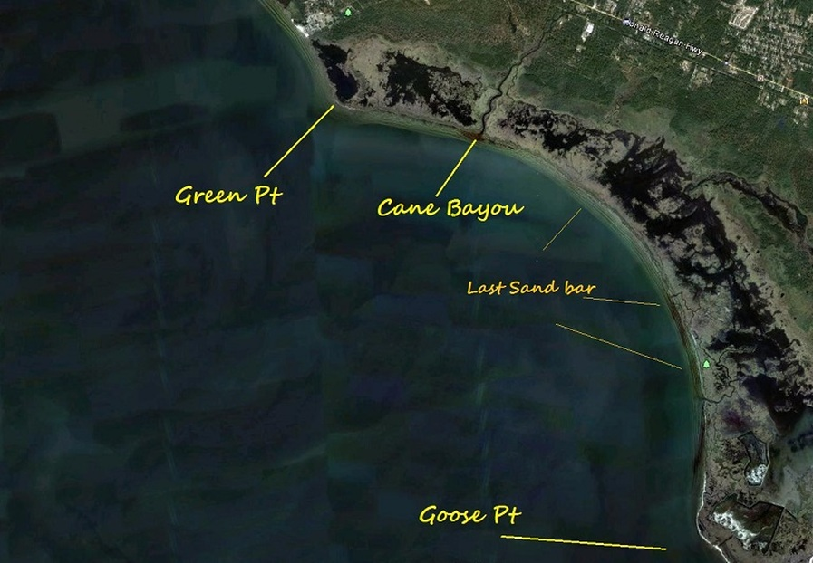Green to goose trolling up shoreline specks and reds for Lake pontchartrain fishing