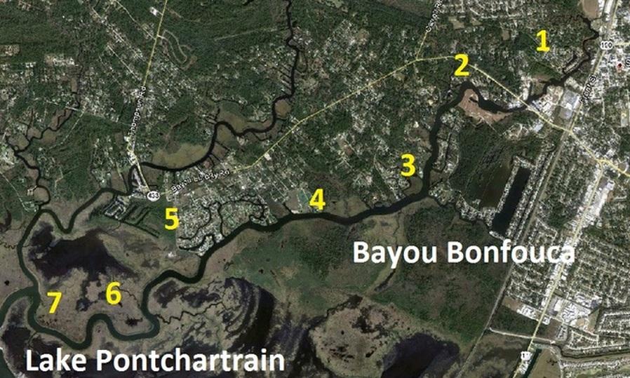 Bayou Bonfouca Map